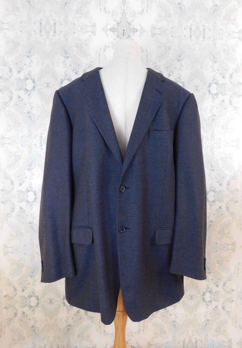 Ermenegildo Zegna Soft Blau Braun Wool Cashmere Blazer Sport Coat IT 54 US 44