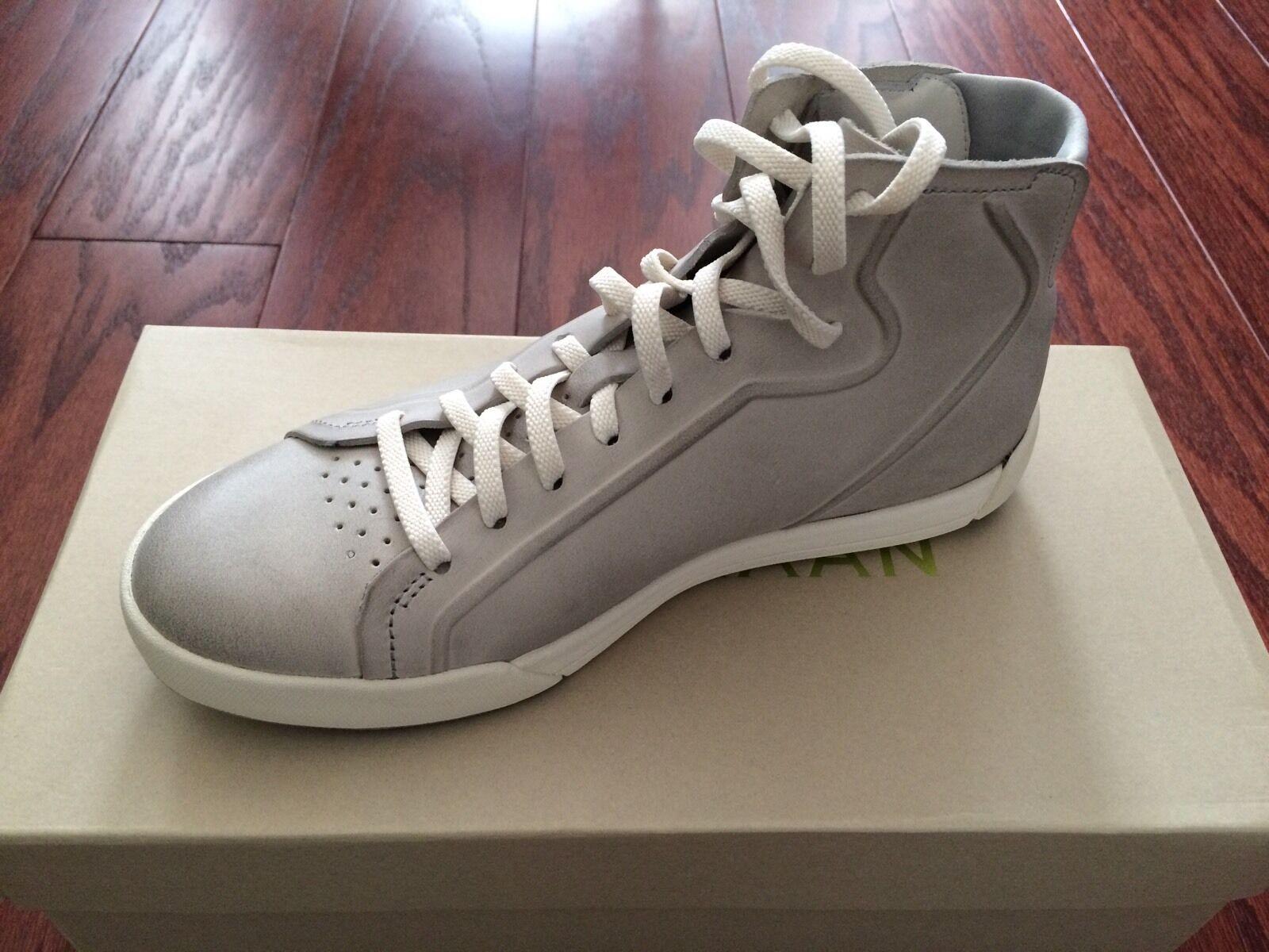 Nuevo En Caja Cole Haan FLX Riley High Top Top Top zapatilla de deporte gris Cuero Para mujeres 5.5B  marcas de moda