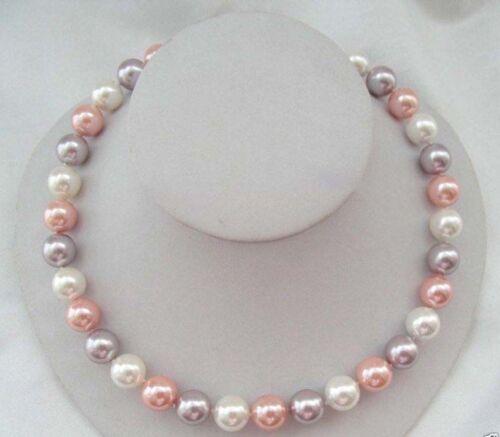 """10 Mm Véritable Multicolore South Sea Akoya Shell collier de perles 18/"""""""
