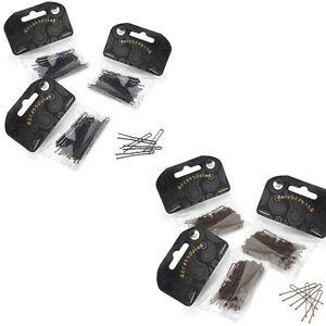 108-x-Wavy-Hair-Pins-Hair-Grips-Bun-Pins-Black-Brown-4-5-cm