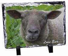 Sheep 'Love Ewe' Sentiment Photo Slate Christmas Gift Ornament, ASH-20SL