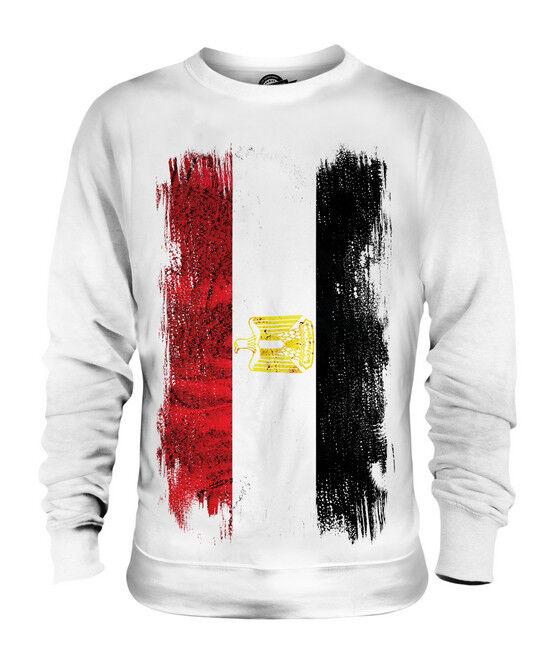 ÄGYPTEN GRUNGE FLAGGE UNISEX SWEATER PULLOVER PULLI SWEATSHIRT HERREN DAMEN