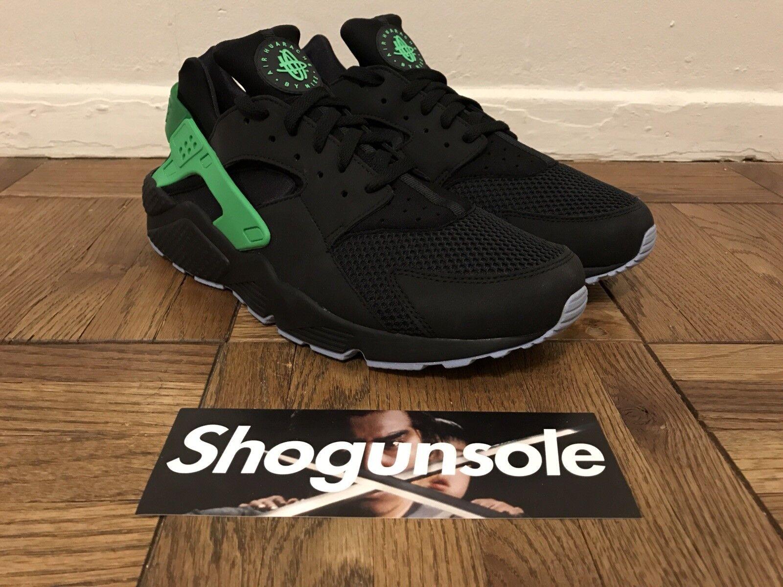 Nike Air huarache Run FB DS nosotros SZ Verde 12,5 Negro / Verde SZ Poison 705070-001 especial de tiempo limitado 016b71