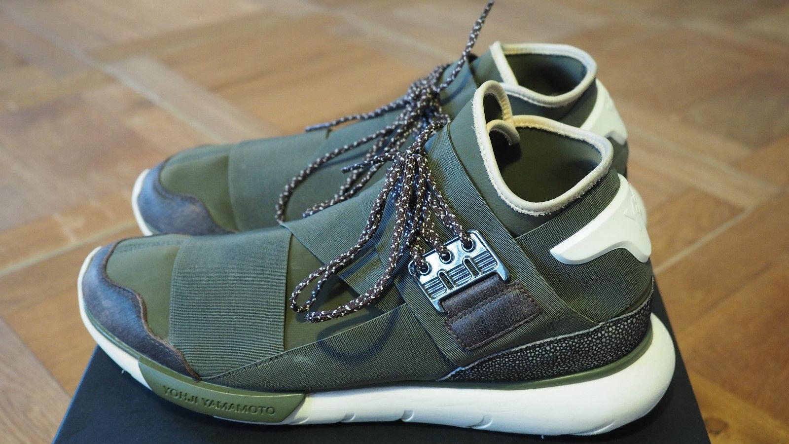 Adidas x Yamamoto Y-3 Qasa High Olive verde Talla EU 45 1 3 US 11 2 x getrgetragen