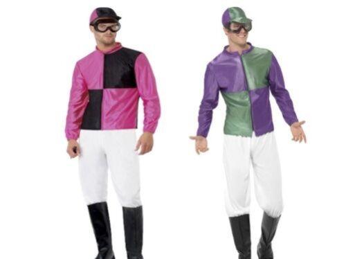 Horse Jockey Race Day Costume Adult Comedy Fancy Dress M L XL