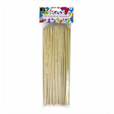 """200 Wooden Bamboo Skewers Barbeque BBQ Grill Kebab Cocktail Sticks 25cm (10"""")"""