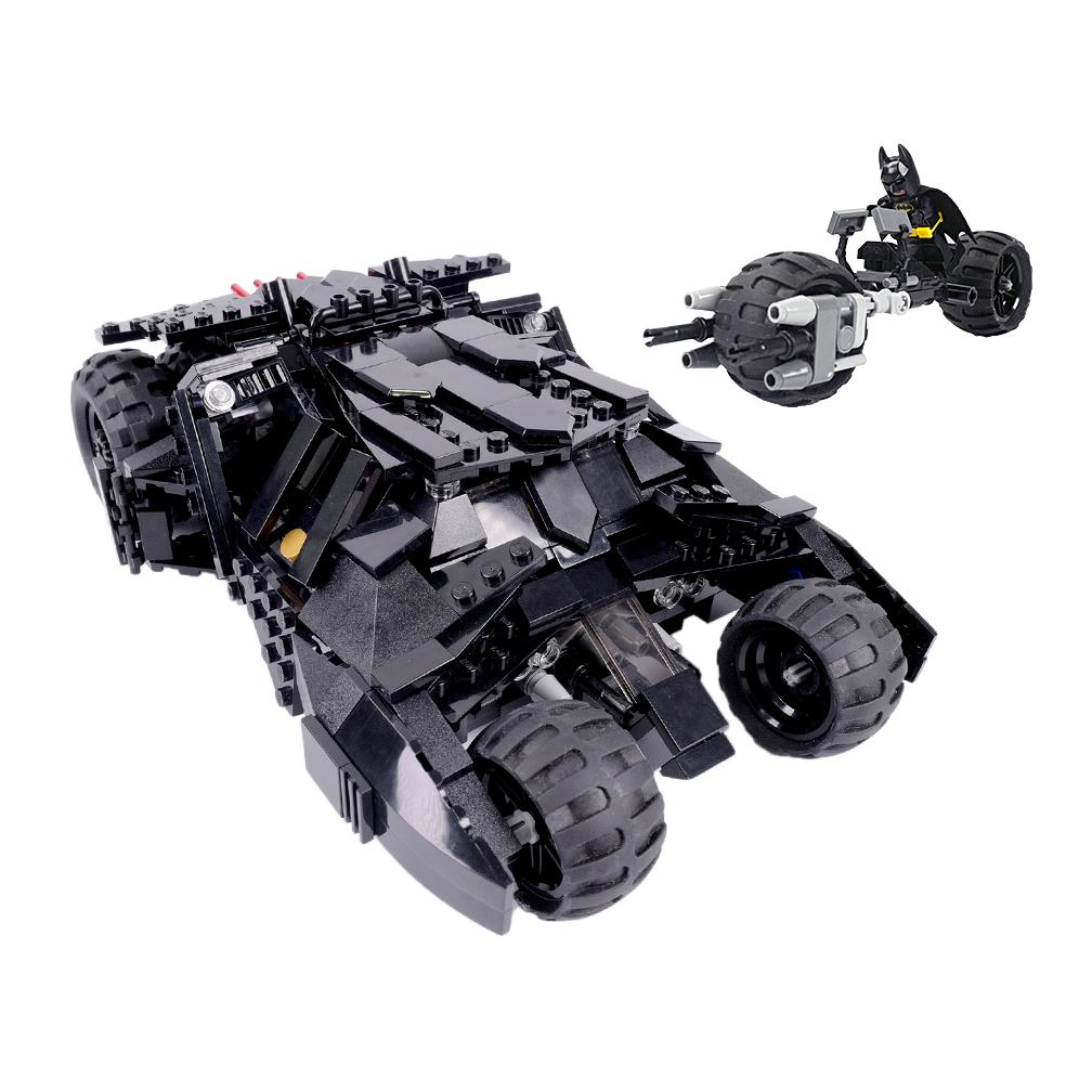 Custom Lego Batman Tumbler w/ Batpod V 2.0 - 7888 76023 70917 7781 7784 76087