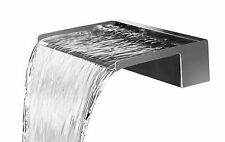 Wasserfall 75 cm Edelstahl matt gebürstet LED-Beleuchtung Wasserauslauf Speyer