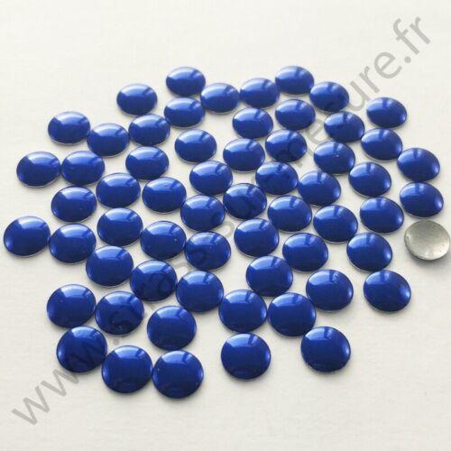 5mm Strass métal thermocollant rond hotfix BLEU ROYAL 2mm 6mm 3mm,4mm