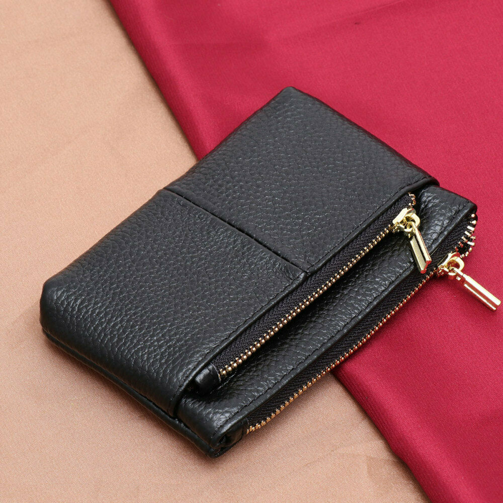 1PC Key Bag Small PU Leather Zipper Change Coin Purse Holder for Women