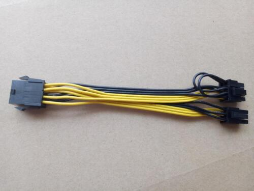 CPU 8Pin to Graphics Video Card Double PCI-E PCIe Power Supply Splitter Cable