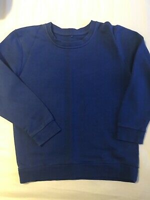 New M/&S Unisex Girls Boys School Sweater Jumper  Royal Blue 4 5 6 7 8 years