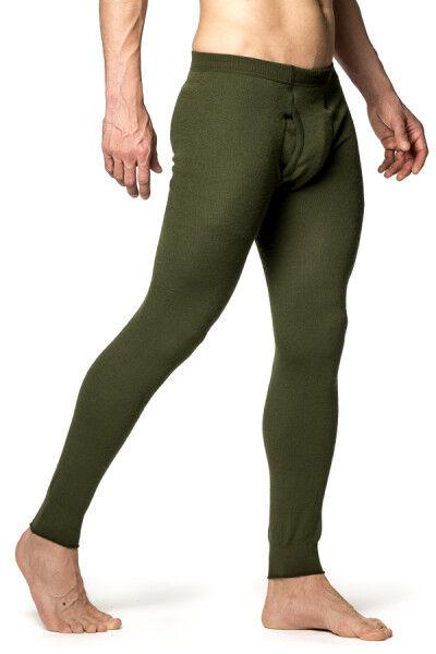 Pantalon caleçon Woolpower Long john     fly en mailles Ullfrotté vert db50f6