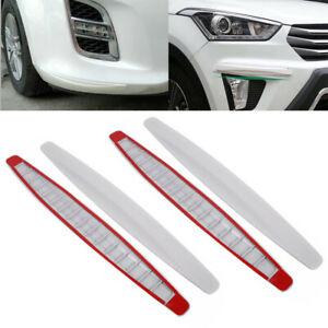 4x-auto-barre-di-ingresso-Angoli-Paraurti-Protezione-Pellicola-Protettiva-Adesivo-DIY-Bianco