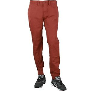 d5a1b1103f Image is loading Vans-Men-Excerpt-Chino-Pegged-Pants-maroon-brick