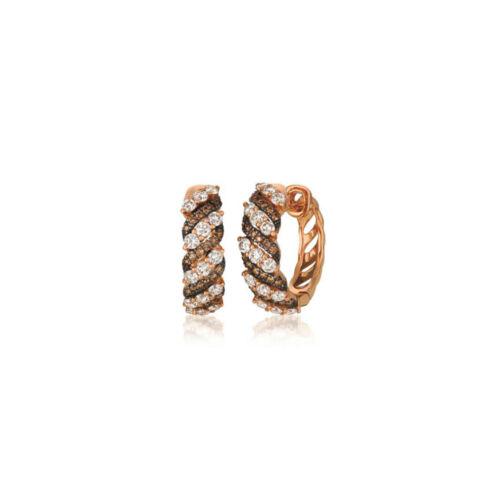 Aventura bijoux marron chocolat Inside Out Boucles d/'oreilles Créoles 6.09 ct