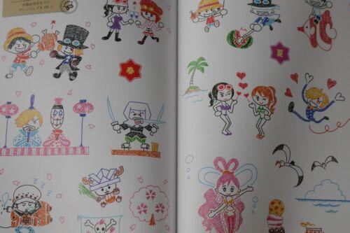 JAPAN Ballpoint pen de Kakeru One Piece Kantan Illustration Guide