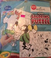 Mickey Mouse Party Supplies-Jumbo Coloring Puzzle-Activity