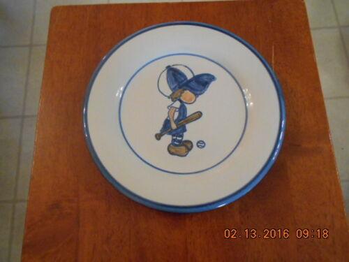 "Louisville Stoneware ""Little Slugger"" Dinner Plate, Cup & Bowl ""Complete Set"""