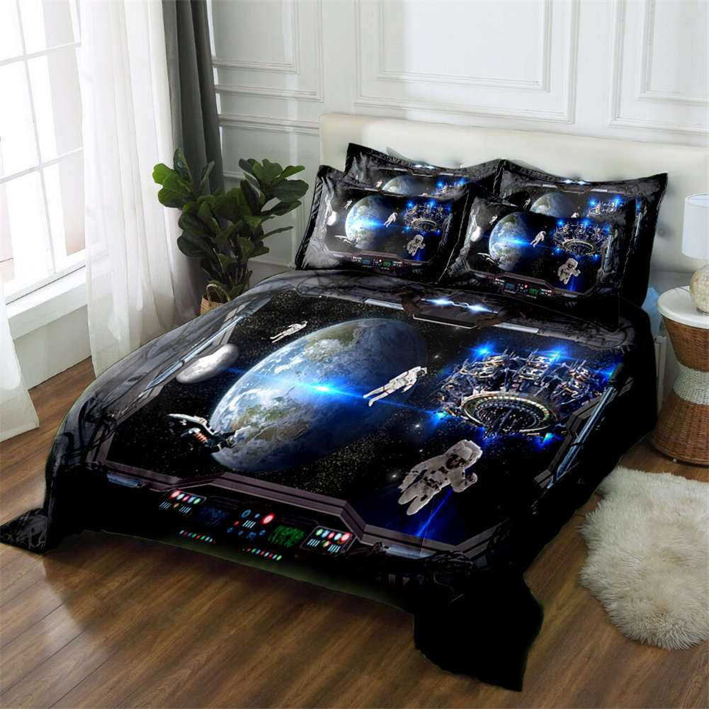 Floating Astronaut 3D Printing Duvet Quilt Doona Covers Pillow Case Bedding Sets