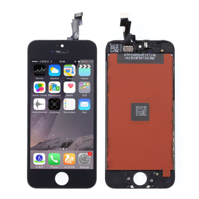 Black LCD Display+Touch Screen Digitizer Assembly Replacement for iPhone 5S New