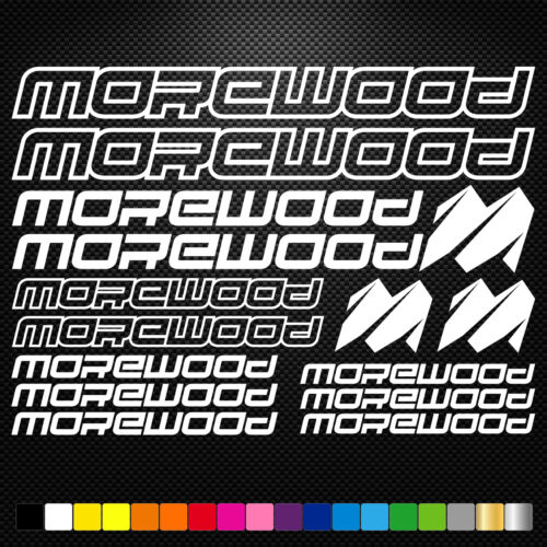 Morewood Vinyl Decals Stickers Sheet Bike Frame Cycle Cycling Bicycle Mtb Road