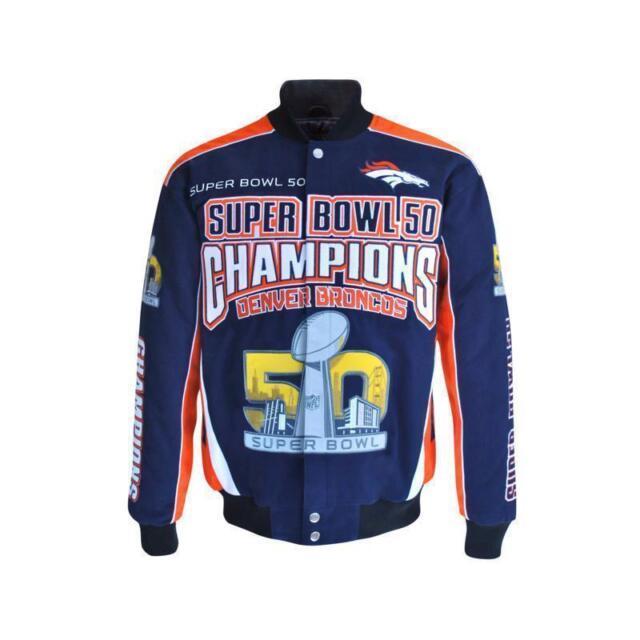 99bdf694ddc NFL Team Apparel Broncos Super Bowl 50 Champions Cotton Twill Jacket ...