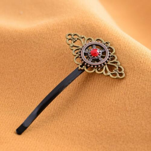 Steampunk Gear Hairpin Industrial Stage Little Princess Embellished Barrette Pin