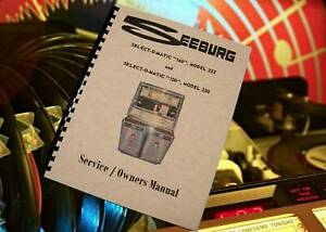 Seeburg select-o-matic du modèle 222, 220 JUKE-BOX service/propriétaires Manuel (174 pg)