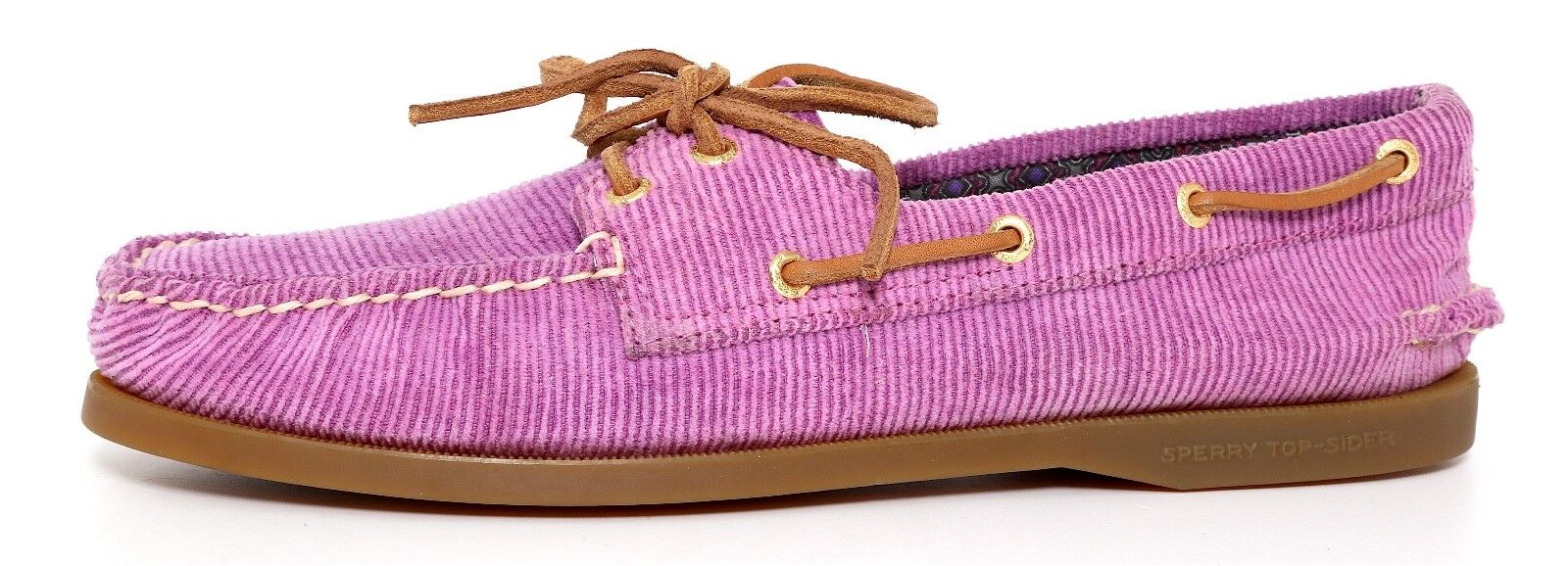 Sperry Top Sider 2 Eye Slip On shoes Berry Women Sz 9 M 5270