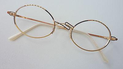 Marchio Di Tendenza Glasses Ovale Da Donna Occhiali Versione Oro In Metallo Nero Argento Fuori Uso Size M-mostra Il Titolo Originale