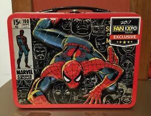 Spider-Man-2017-Fan-Expo-Boston-Exclusive-Metal-Tin-Lunchbox-Marvel-Comics