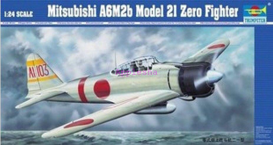 Trumpeter 02405 1 24 Mitsubishi A6M2b Model 2I Zero Fighter