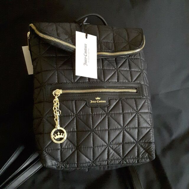 56b08f5f2 Juicy Couture Black Crown JEWEL Backpack Handbag for sale online | eBay