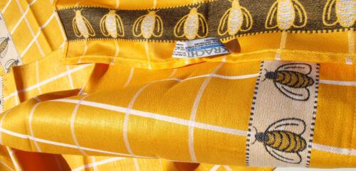 2x vaisselle foulards abeilles Bâton qui cuisine foulards Jacquard halbleinen abeille honiggelb