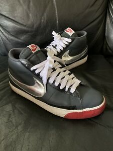 new product 98d95 37976 ... low price image is loading nike blazer high anthracite black silver red  315877 2daa5 747cd