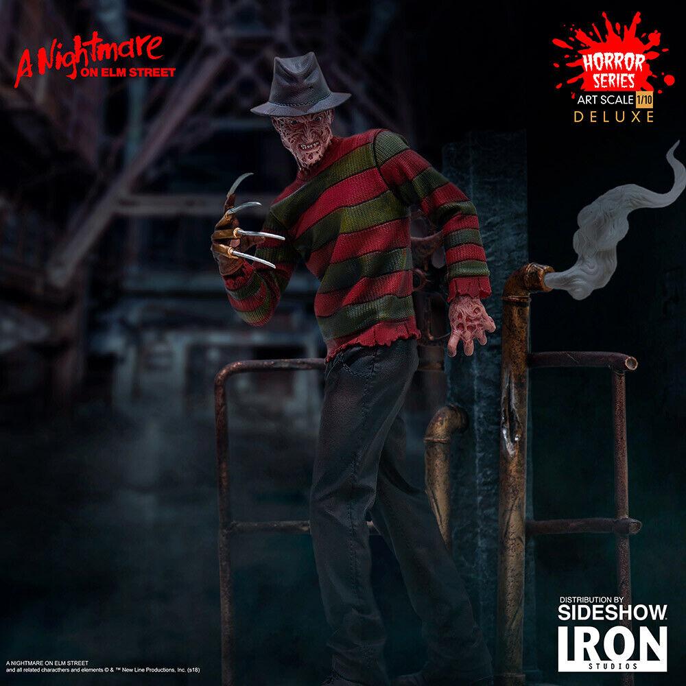 Iron Studios A Nightmare on Elm Street Freddy Krueger Deluxe Art Scale Statue on eBay thumbnail
