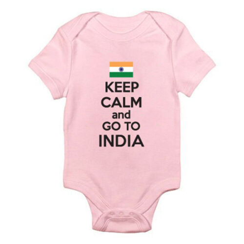 Indian South Asia KEEP CALM AND GO TO INDIA Suit Fun Themed Baby Grow