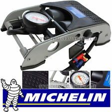 Michelin Double Piston Twin Barrel Car Bike Bicycle Tyre Ball Inflator Foot Pump