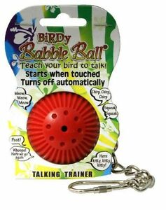 Birdy-Babble-Ball-Bird-Interactive-Hanging-Cage-Toy-Parrot-Talking-Trainer-NEW