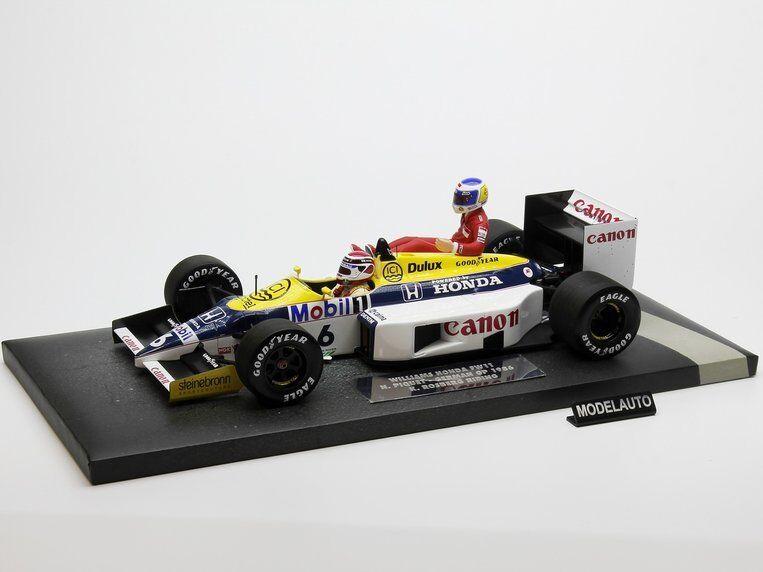 Minichamps 1 18 WILLIAMS Keke Rosberg et Riding sur Nelson Piquet allemand Grand Prix 1986