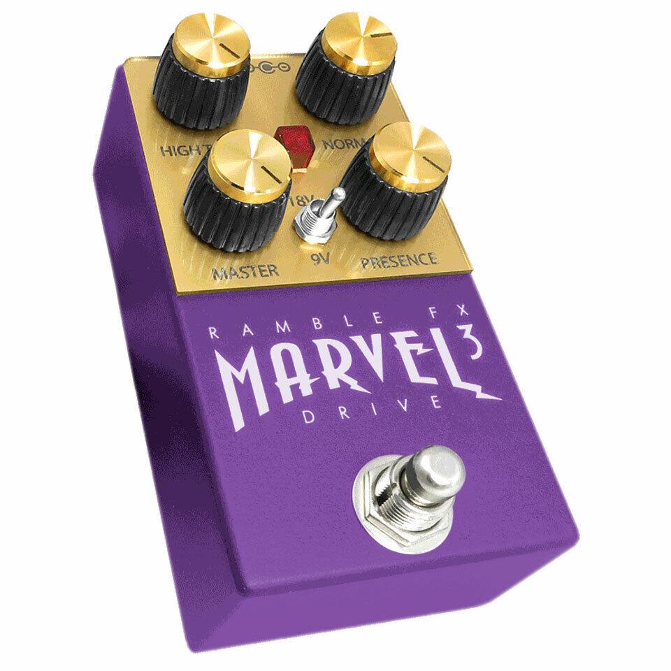 Effektgerät E-Gitarre Ramble FX Marvel Drive 3 PPL Effektgerät Effekt E-Gitarre