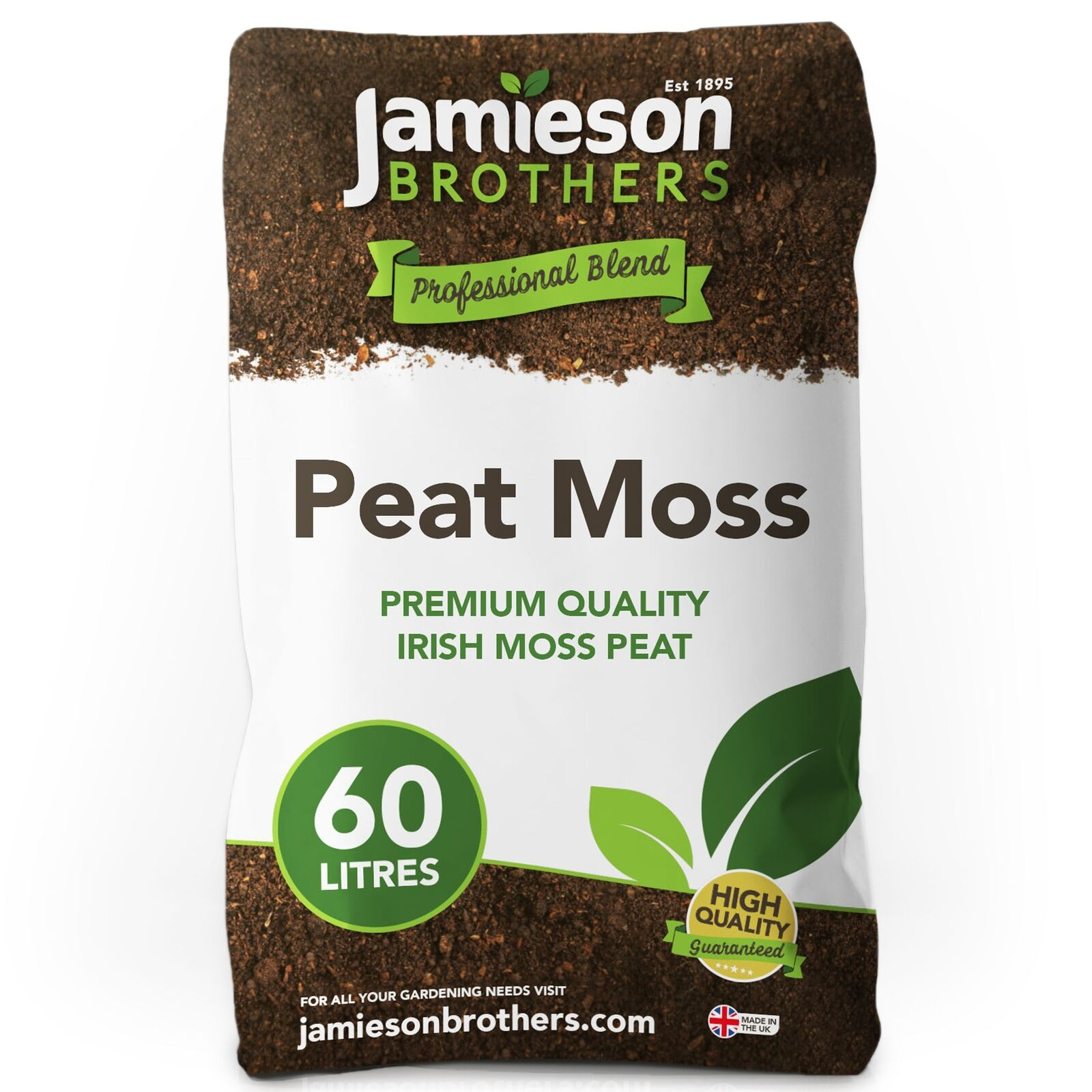 Jamieson Brothers® Jamieson Brothers Peat Moss 60L - 100% natural and disease fr
