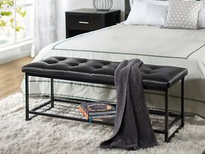 Details about Decorative Bench Cushion Storage Bedroom Foot Of Bed Hallway  Entryway Dining 48\