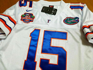 the best attitude d7862 25457 Details about FLORIDA GATORS #15 TIM TEBOW COLLEGE THROWBACK ALL SEWN  2PATCH SEWN JERSEY WHITE