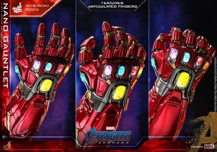 Hot Juguetes ACS008 1 4 Vengadores Tacho Iron Man Nano Infinity Gauntlet 7.5  figura
