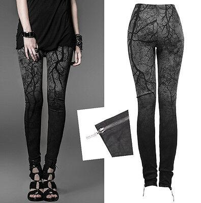 Pantalon Leggings Gothique Punk Lolita Fashion Végétal Branches Dark Punkrave