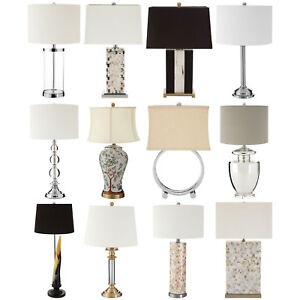 12 assorted table lamps bedside bedroom reading desk lighting fabric shades new ebay - Lampade da lettura a letto ...