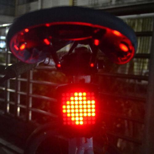 Bike Tail Light Intelligent Sensor Brake Turn Signals Blinker MTB Road Bicycle