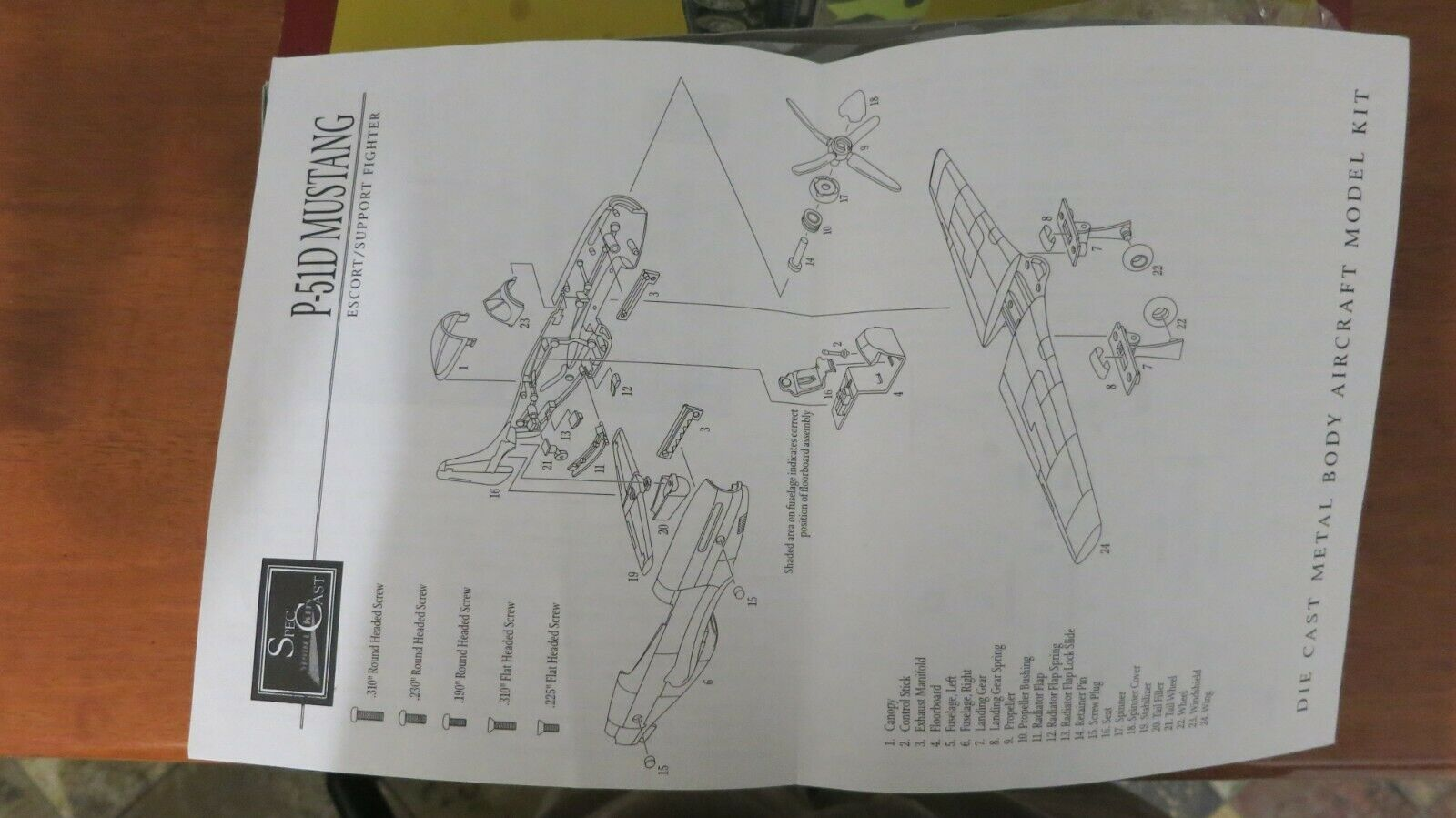 1 1 1 45 North American P-51 D Mustang model diecast  Metal Kit Spec cast 3afbaf